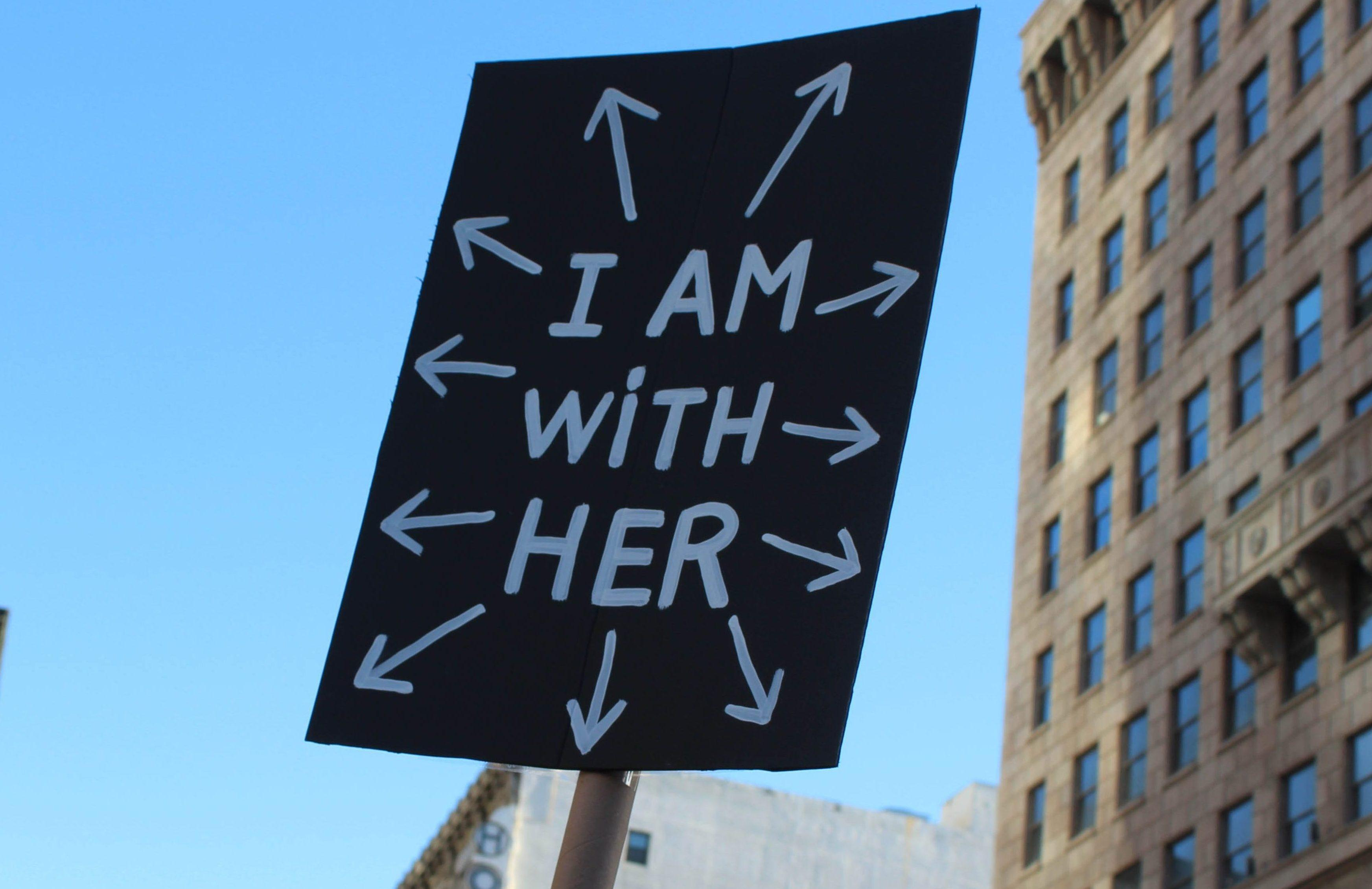 Poster from the Women's March. Photo by Kaya Ortega.