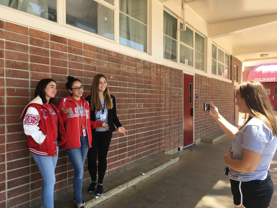 ASB+films+the+Friday+Video+Announcements.+Photo+by+Emily+Caluya.