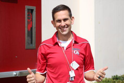 Teacher David Shanebeck wearing a Kula.