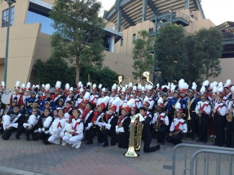 FUHS Marching Band performed at Angel's stadium on Sept. 17.