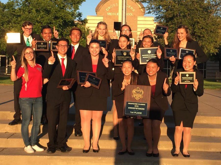 FUHS Speech Team after a successful tournament at the Grapevine International on Sept. 9.