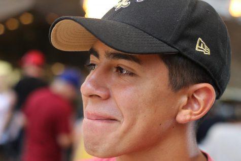 Michael Vargas is a Full IB student, an FUHS football linebacker, and CSF Treasurer. Photo by Walter Kim.