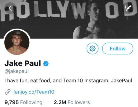 Jake Paul's infamous social media account.