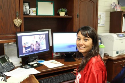 Assistant Principal Tina Wilde sits in her office. Photo by Melanie Pinzon.