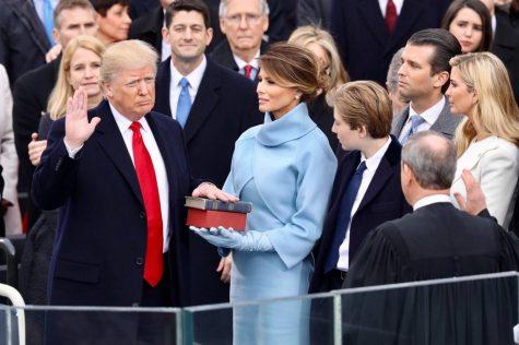 Donald Trump is sworn into office Jan. 20. Source: https://upload.wikimedia.org/wikipedia/commons/6/6c/Donald_Trump_swearing_in_ceremony.jpg