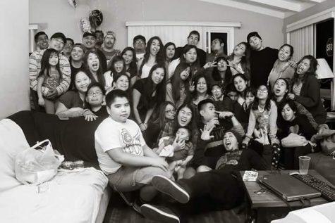 Junior Daphne Escandor's family gathering. Photo provided by Escandor family (2013).