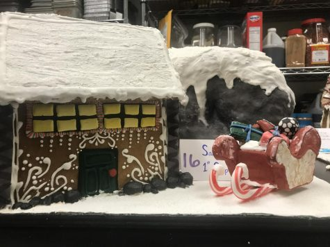 The Santa's 1st Stop gingerbread house. Photo courtesy of Anthony Rugama.