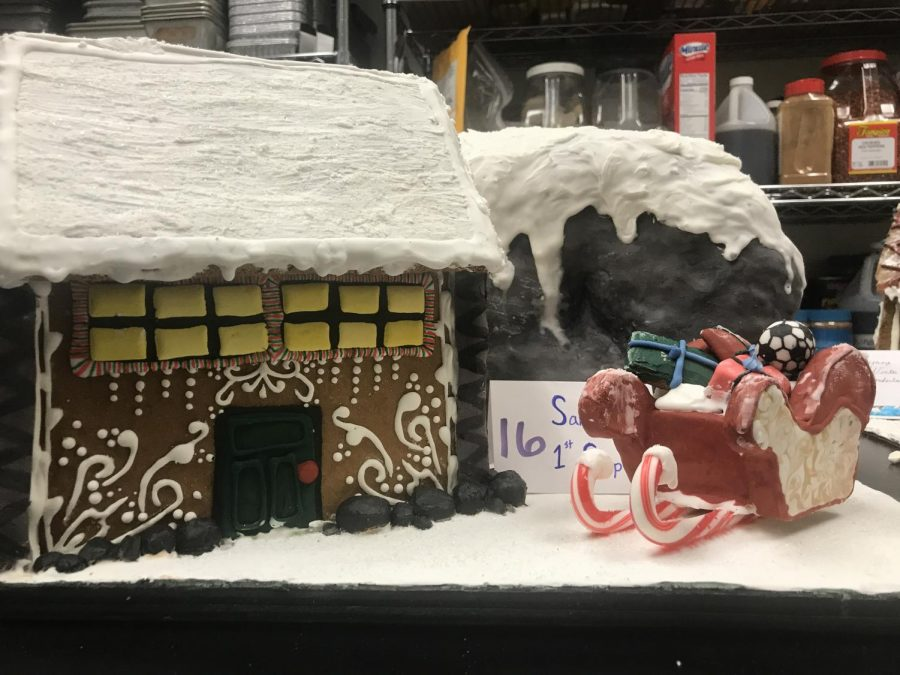 The Santas 1st Stop gingerbread house. Photo courtesy of Anthony Rugama.