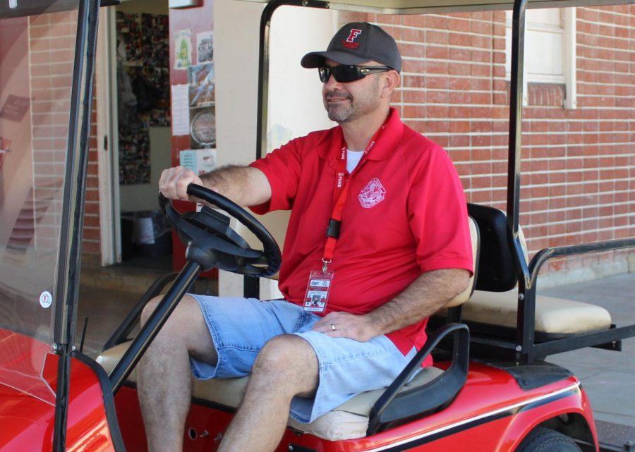 New campus security Frank Ramirez. Photo by Megan Kim.