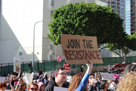 Women protesting in the recent women's march. Photo courtest of Kaya Ortega.