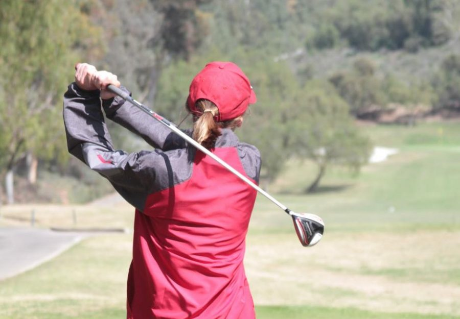 Sophomore Damon St. James practices on the course. Photo by Kate Thompson.