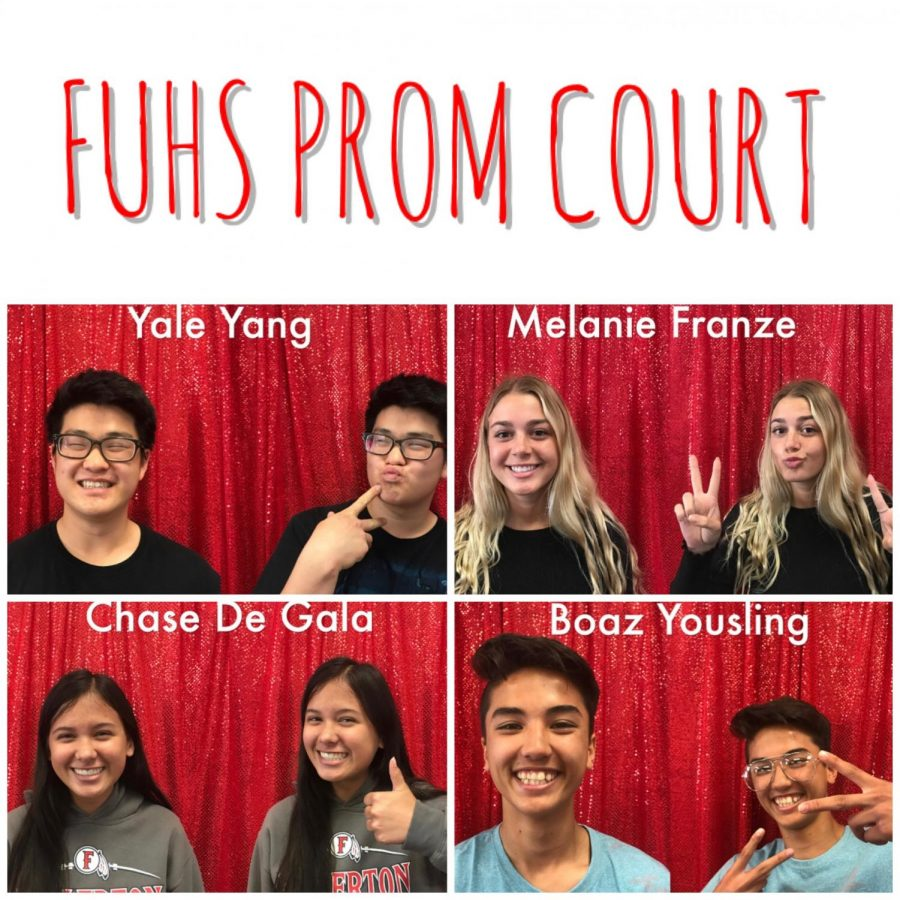Shown above is the 2018 prom court. Photo courtesy of ASB.
