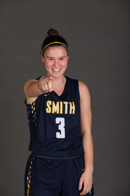 Emma Zener, sophomore basketball player at Smith College. Photo courtesy of Emma Zener.