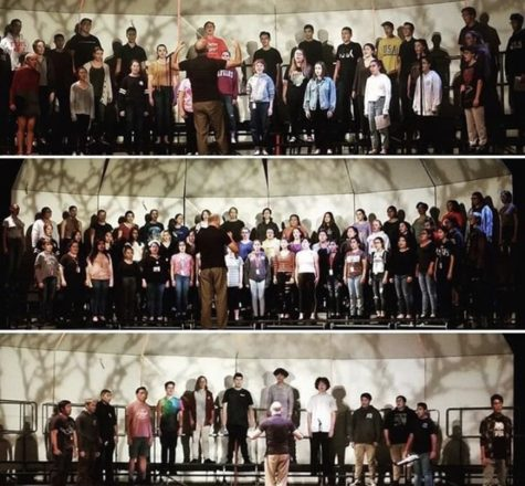 FUHS Choral students rehearse for their Fall Concert