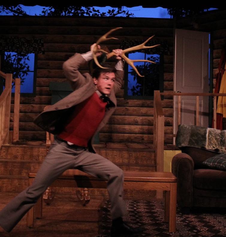 Devin Ricklef plays a deer
