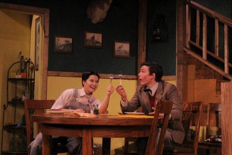 Tate Heinle (Ellerd) teaches Devin Ricklef (Charlie) what a fork is.