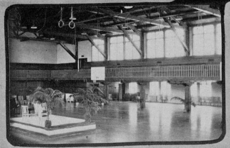 The gym, pictured in a 1931 yearbook, originally had a second tier seating area. Inspectors deemed the gym unsafe in January 2019. The original structure was built in 1927.
