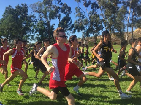 Junior Cyrus Burton runs in the first Freeway League Cluster. Photo courtesy of Nathan Smith.