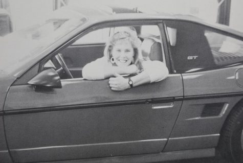 Senior Sharon Spadt in her 1980 fox body Ford Mustang GT.