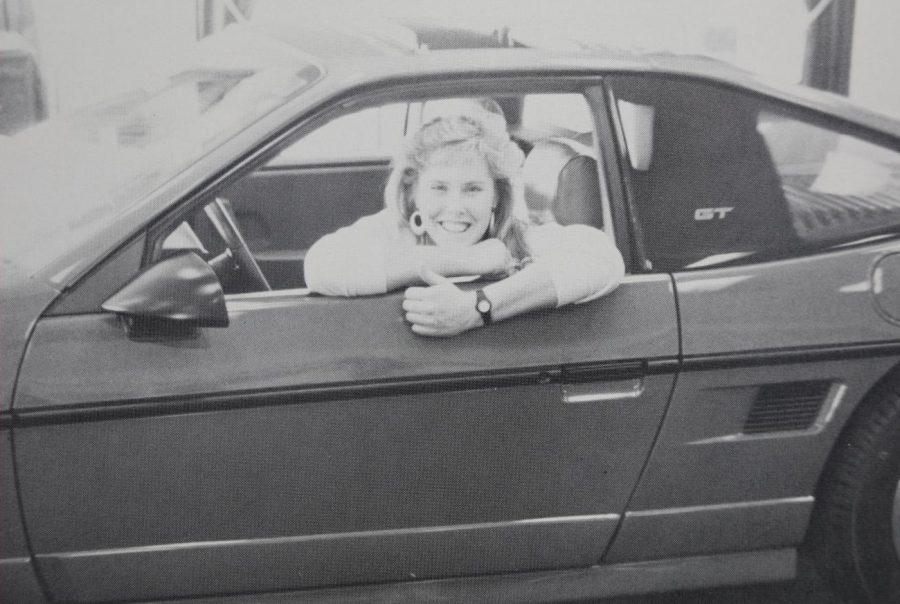 Senior Sharon Spadt in her 1980 fox body Ford Mustang GT.