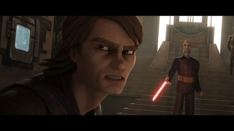 Anakin Skywalker (voice of Matt Lanter) faces off against Count Dooku (voice of Corey Burton). Photo courtesy of flickr.com.