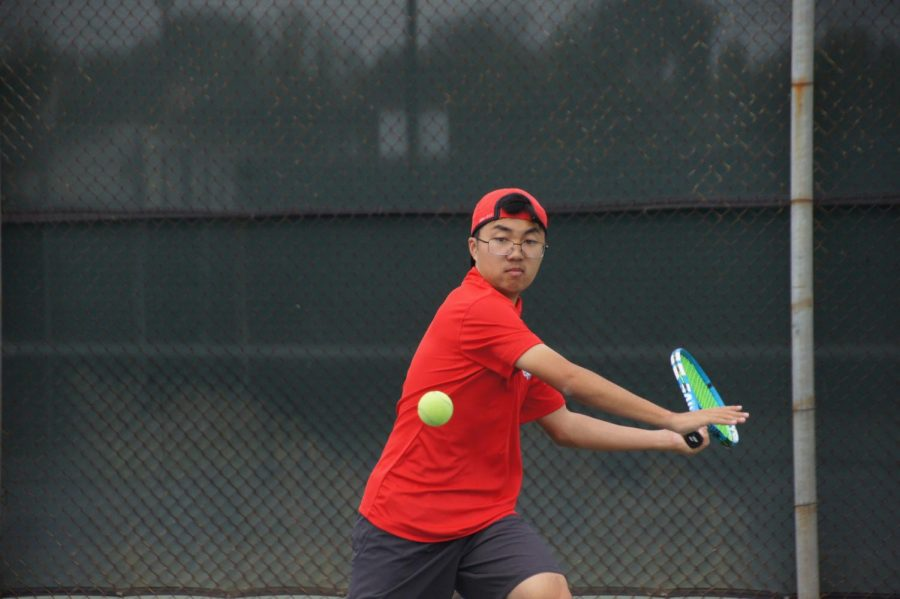 Martin, valedictorian, also served as varsity tennis captain his senior year. Photo courtesy of Martin Vo.