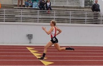 Rosemary's personal record in the 400m race is 57.89 seconds. Photo courtesy of Rosemary Kehoe.
