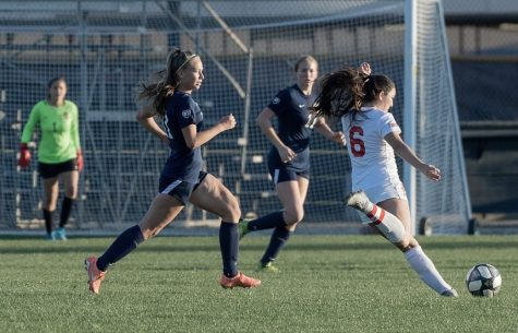 Haley Knight (right) attempts to score a goal against Sonora. Photo courtesy of Haley Knight.
