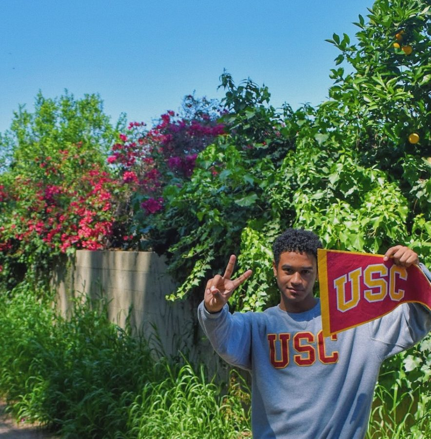 Senior Tyrell Mendez will study Architecture at the University of Southern California. Photo courtesy of Tyrell Mendez.