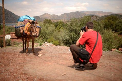 Caysen capturing a mule carrying supplies in the village of Tannaout , Morocco, captured on a Nikon DF. Photo courtesy of Caysen Maus.