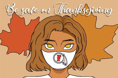 Enjoy your Thanksgiving break, but don't forget the health and safety of others. Illustration by Brenda San Elias.