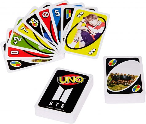 UNO is a popular classic card game, but these are BTS themed which are perfect to gift to a BTS or k-pop fan. Photo Courtesy of Amazon.