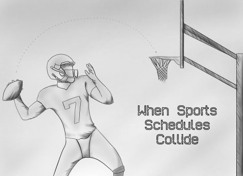 Fans might have to choose between football and hoops this weekend. Illustration by Brenda San Elias.