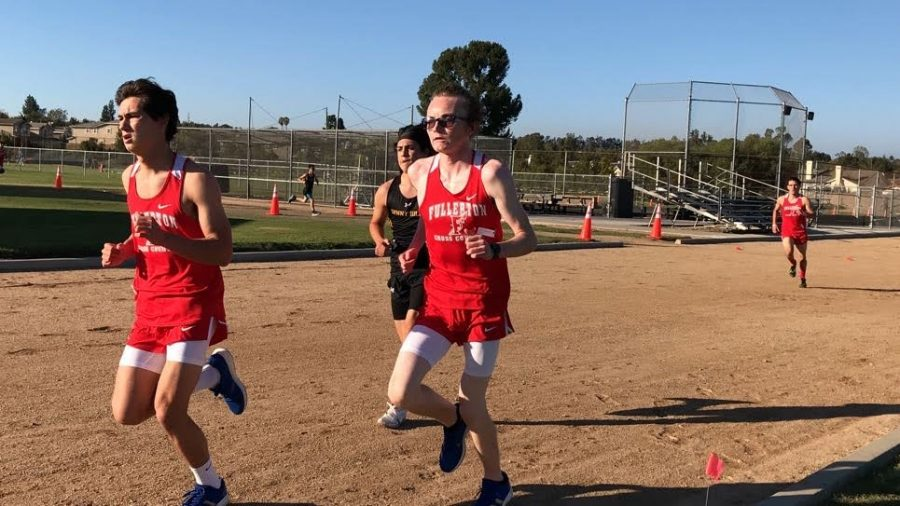 Matthew Abernathy (left) and Cyrus Burton (right) placed second and third respectively against Sunny Hills on Feb. 24. Photo courtesy of Angelica Garcia.