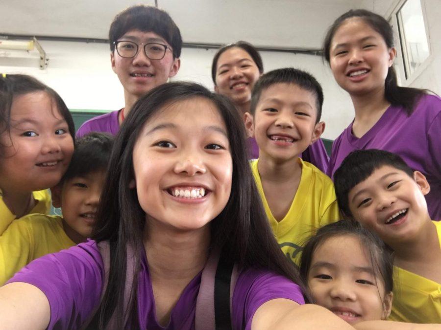 Liu teaches two hectic first grade classes as an English teacher at a bilingual summer camp in ChangHua, Taiwan.