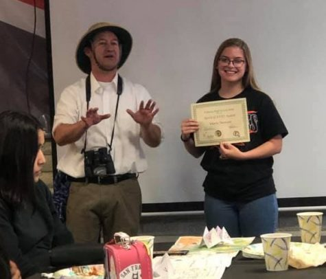 Her sophomore year, Stewart won Student of the Year and Best (AVID) Tutorial Leader. Photo courtesy of Marie Stewart.