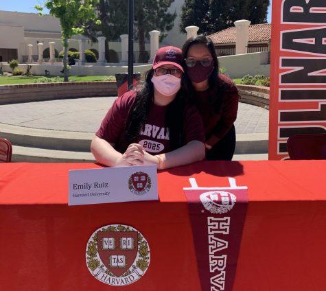 Emily Ruiz committed to Harvard University at signing day on April 29. Photo courtesy of Emily Ruiz.