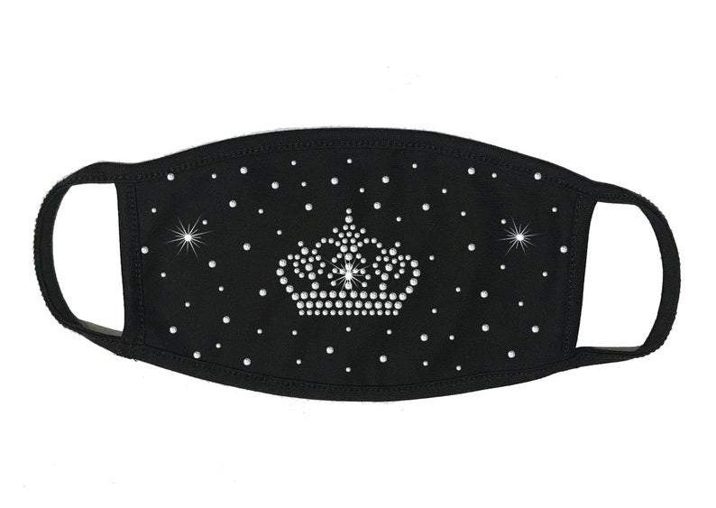 Students must wear face coverings at the Oct. 16 Homecoming dance. This facemask is available for $14.99 at rhinestonesuperstore.com.